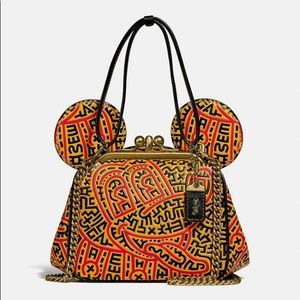 New💃Coach Disney Mickey Mouse X Keith Haring Bag